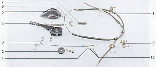 Регулировка троса ручника на ваз 2101-2107