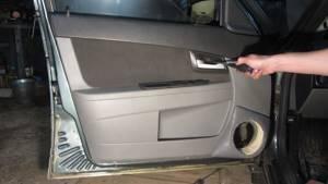 Замена обшивки двери на приоре