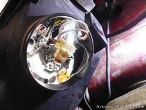 Замена всех ламп в передней фаре на калине