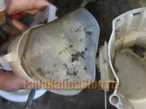 Замена сетки бензонасоса на калине