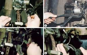 Замена передних тормозных колодок на ВАЗ 2110, ВАЗ 2111, ВАЗ 2112