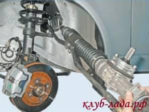 Замена рулевой рейки на приоре