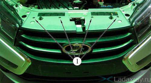 Ремонт переднего бампера lada x-ray. Как снять?