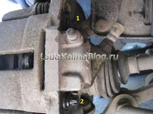 Замена рабочего (Переднего) тормозного цилиндра на калине