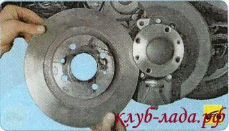 Замена тормозных дисков на ладе гранте