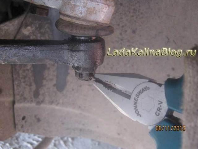 Замена наконечников рулевых тяг на калине