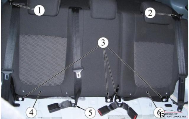 Как снять заднее сиденье на Лада Веста. Как снять зеркала, обшивку