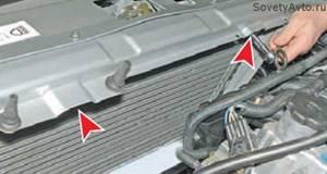 Замена радиатора охлаждения на приоре